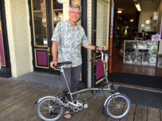 Gary with his brompton bike