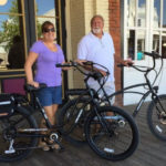 Kenneth and Carrie with Pedego bikes