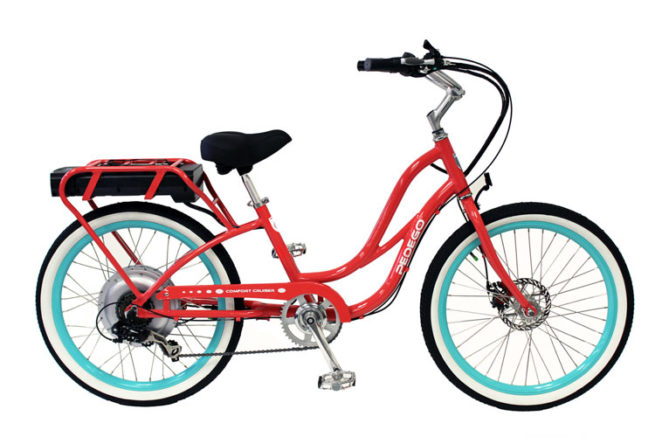 Pedego comfort cruiser III step thru electric bike