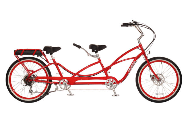 Pedego tandem cruiser electric bike